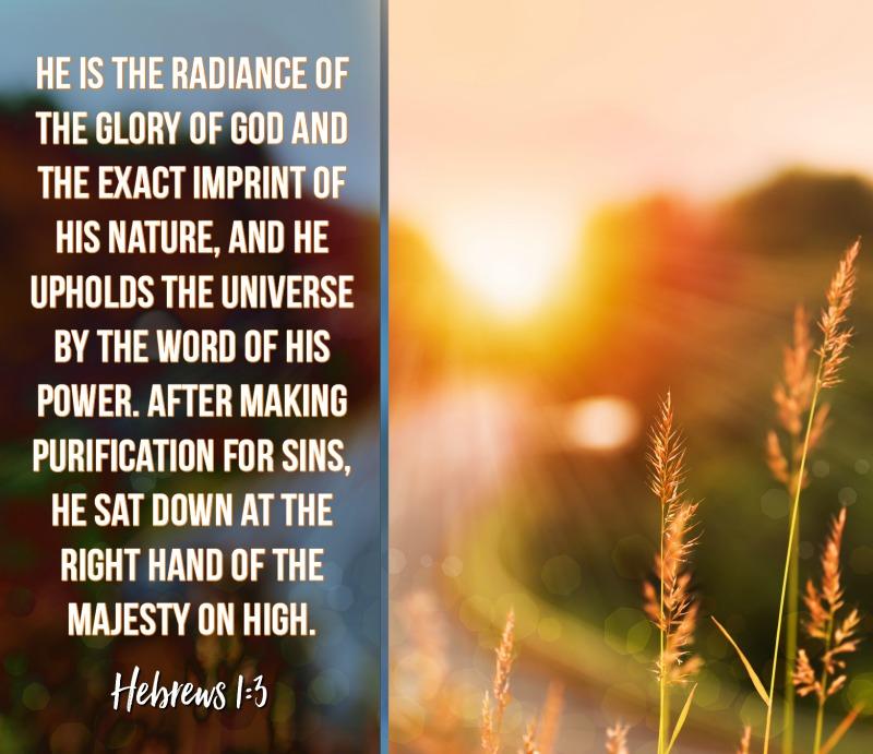 Daily Verse: Hebrews 1:3