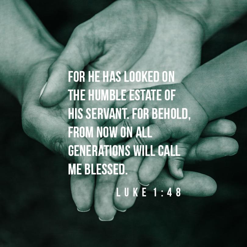 Daily Verse: Luke 1:48
