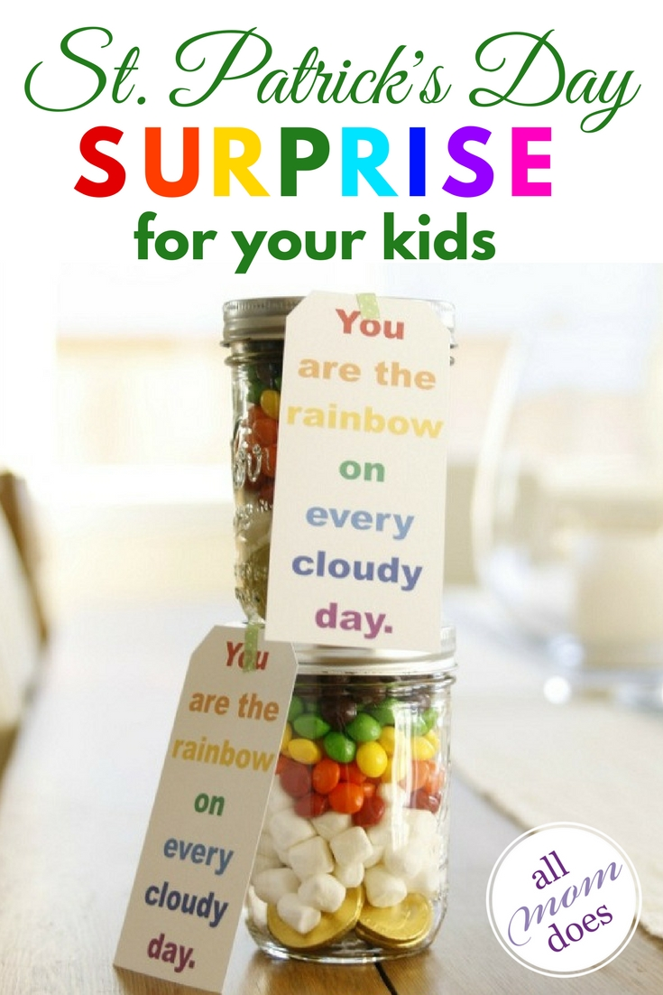 A fun, easy craft to surprise your kids on St. Patrick's Day. #stpatricksday #craft