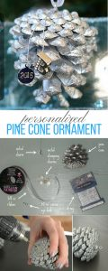 DIY Pine cone Christmas ornament - an easy Christmas craft!