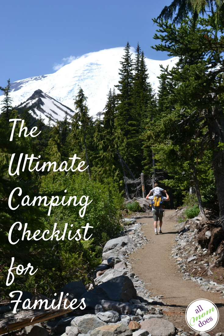 Printable PDF checklist to pack for camping!