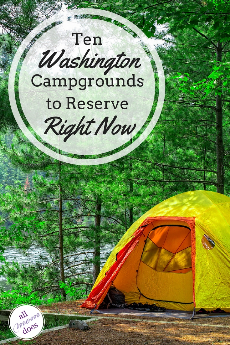 Great campgrounds in Washington State - perfect for families planning a summer camping trip! #camping #pnw