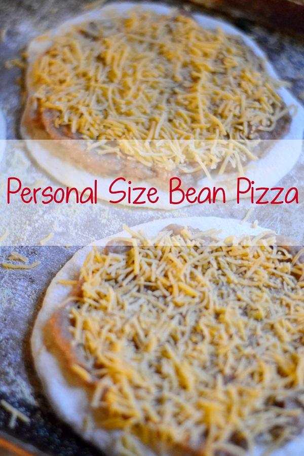 Personal Size Bean Pizzas