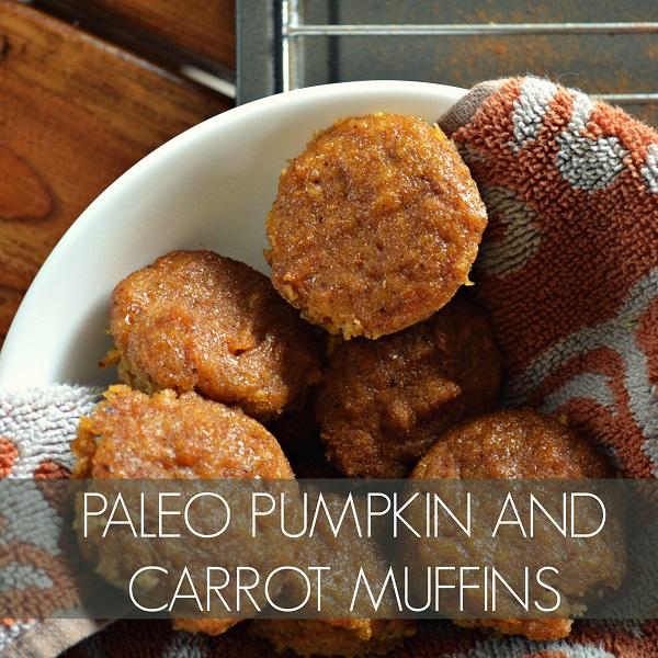 Paleo Pumpkin and Carrot Mini-Muffins