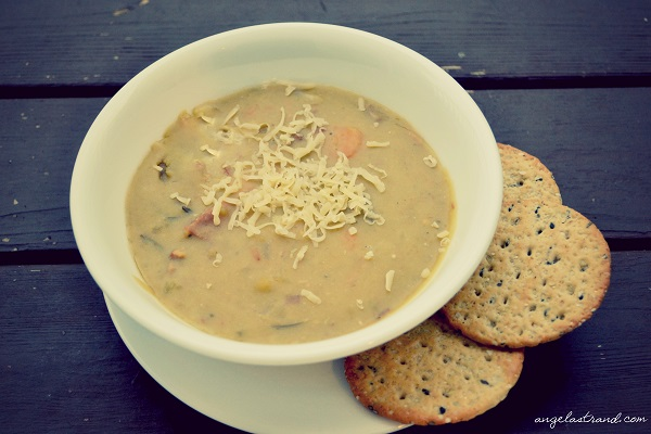 Hearty Split Pea Soup- The Perfect Use for Leftover Ham