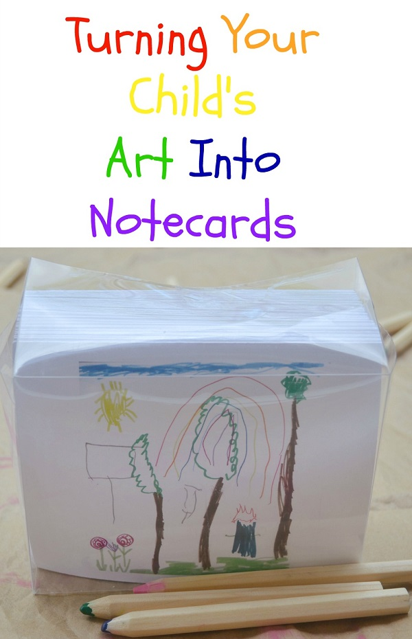 Turning Your Child's Art Into Notecards