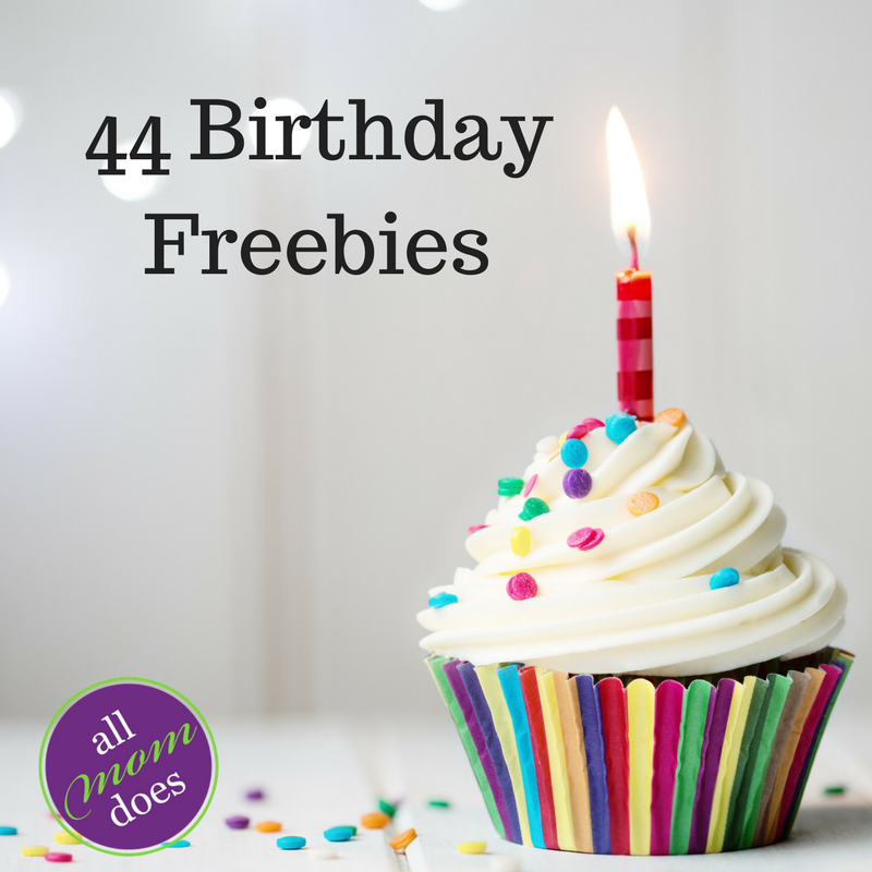 44 Birthday Freebies