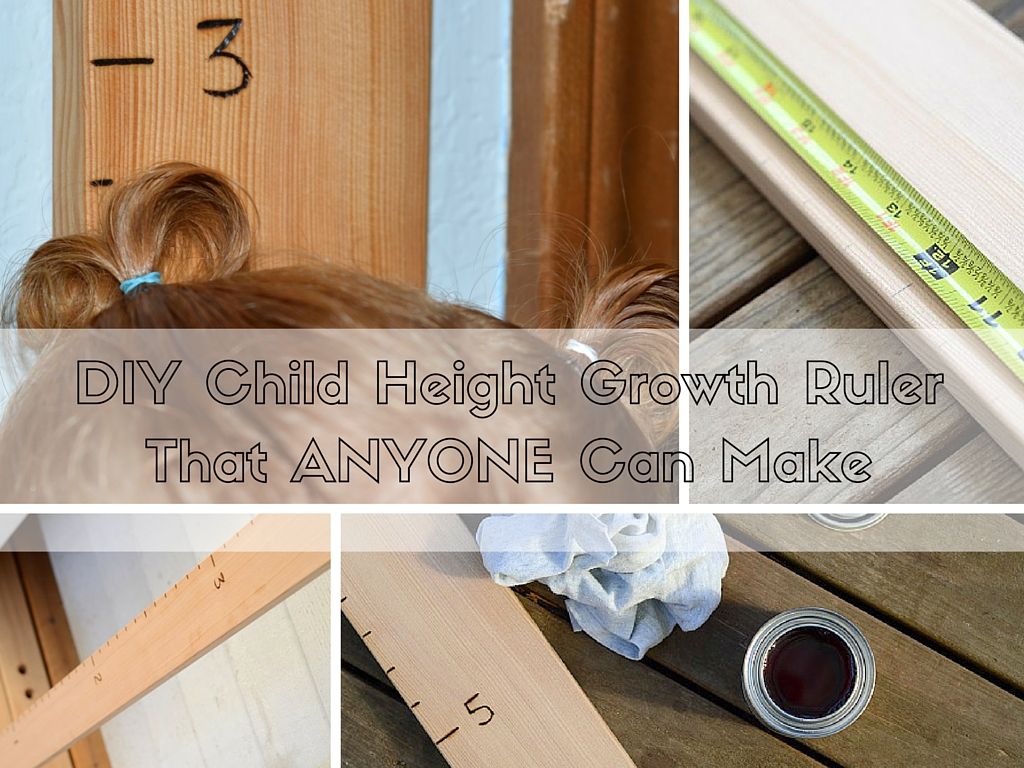 DIY Child Height Growth Ruler That Anyone Can Make