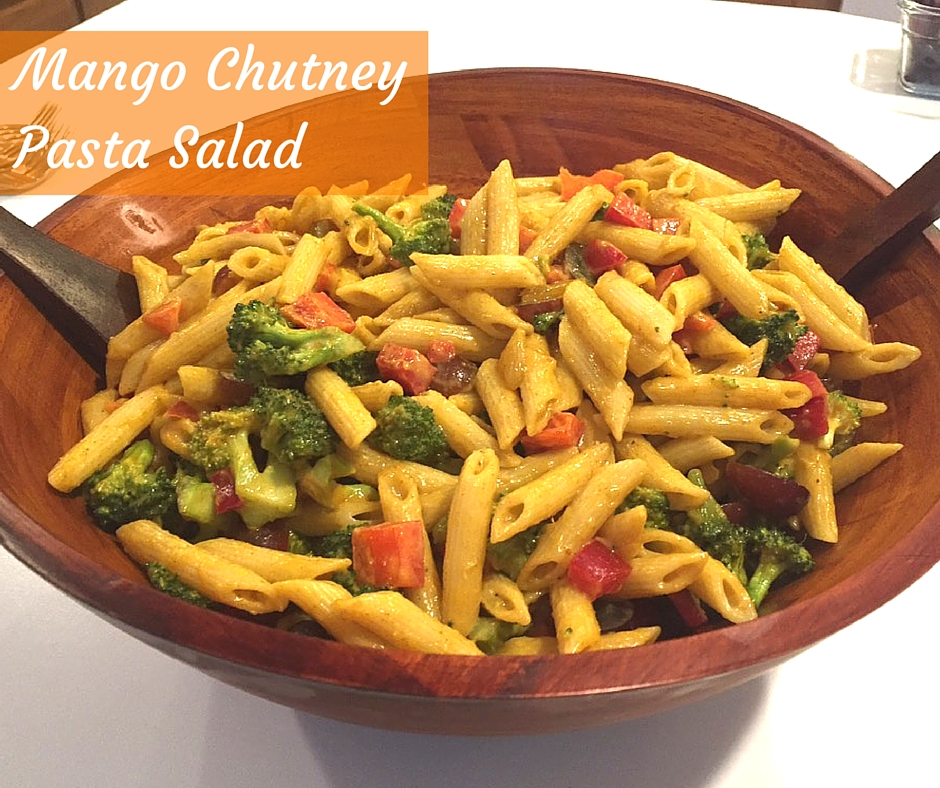 Mango Chutney Pasta Salad