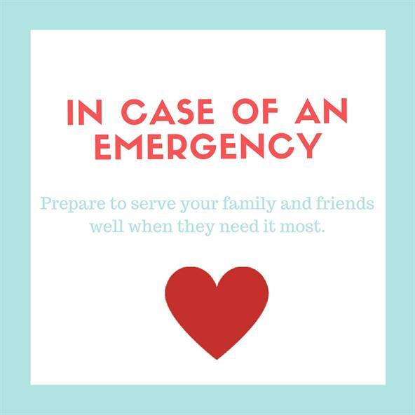 In Case Of An Emergency Printout