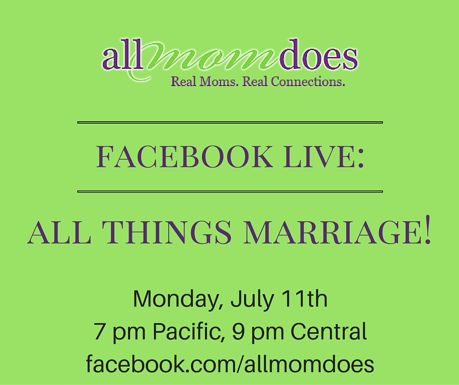 Upcoming AMD Live: All Things Marriage!