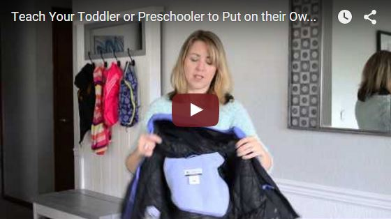 Teach Your Toddler or Preschooler to Put on their Own Jacket!