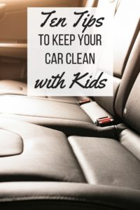 Keep the interior of your car clean with kids by using these tips and hacks.
