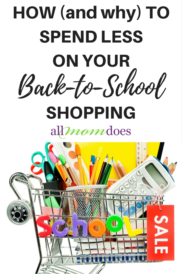 The average family spends $501 on back to school shopping. You can spend less.