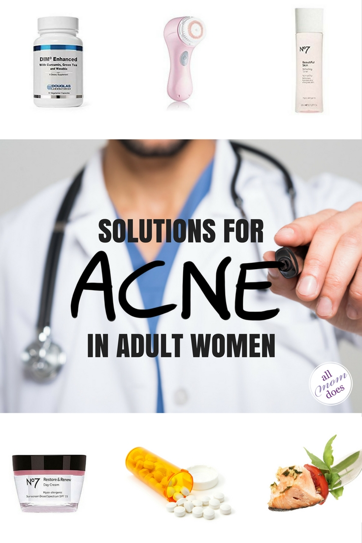 Acne solutions for adult women suffering from hormonal acne.