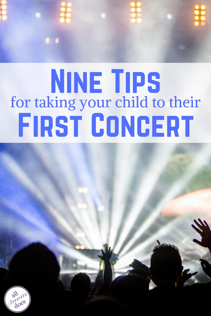 Tips for going to a concert with kids.