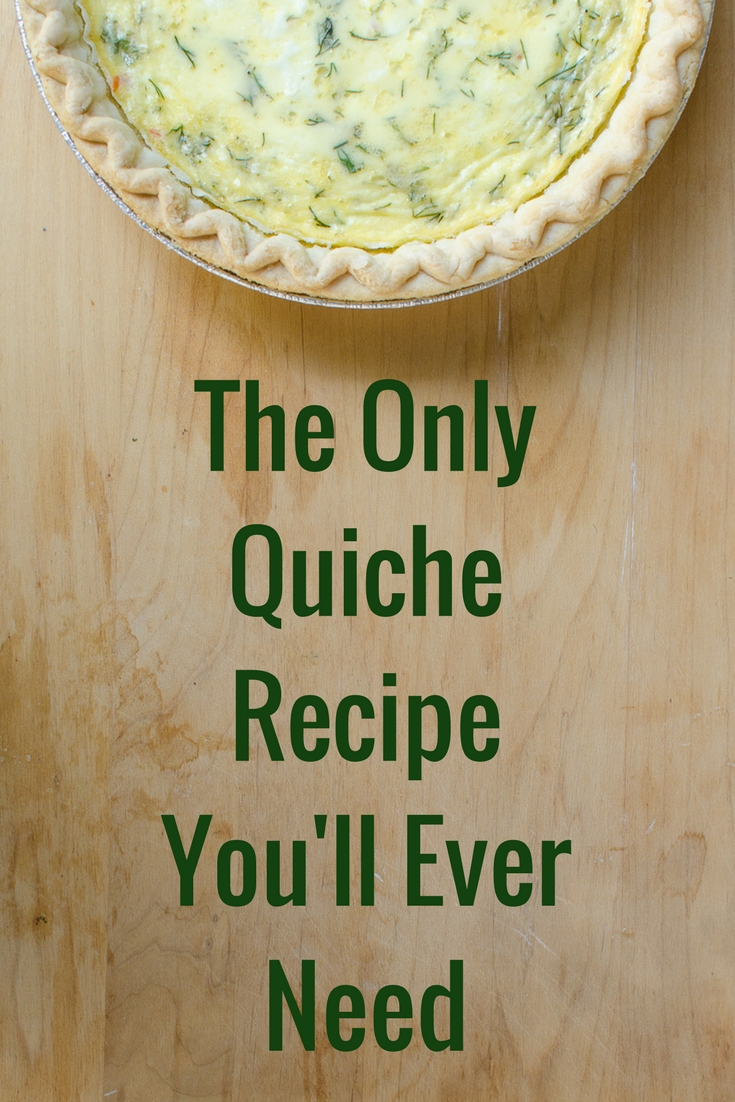 Make quiche with leftovers. #leftovers #quiche