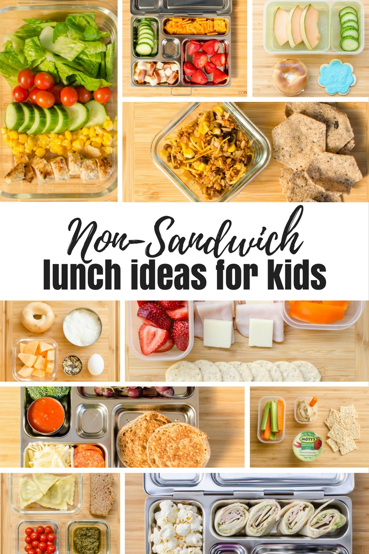 Non-sandwich lunch ideas to send in your child's school lunchbox. #schoollunch #lunchbox
