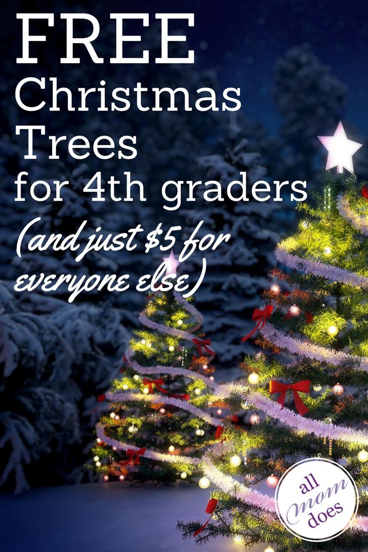 Free and cheap u-cut Christmas trees! #christmastrees #everykidinapark