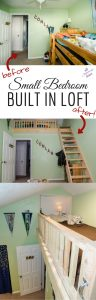 Maximize a small bedroom with a built in loft in wasted attic space! #diy #loft