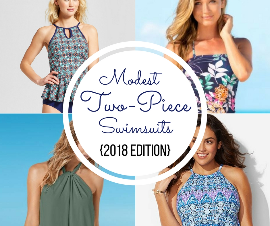 10 Modest Two-Piece Swimsuits {2018 Edition}