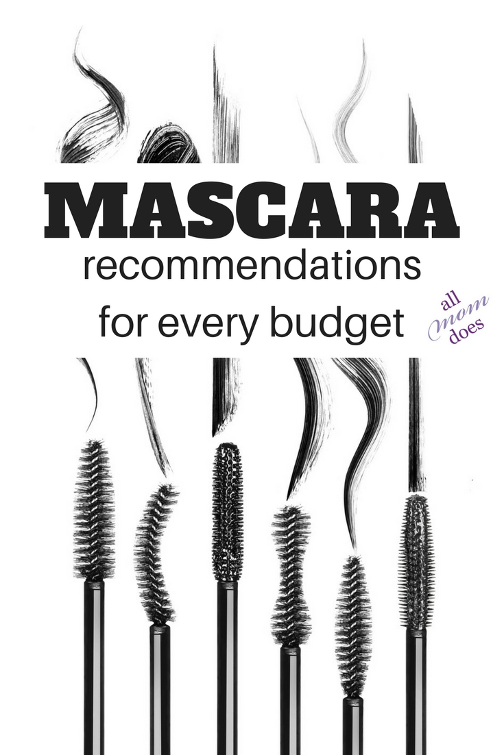 The best mascara for every budget. Cheap mascara recommendations, too! #beauty #budget #frugal #makeup