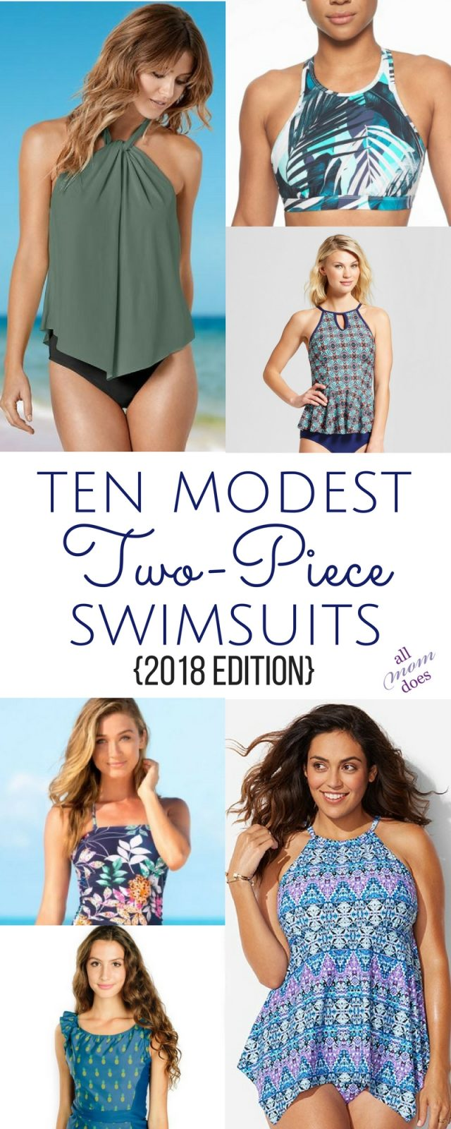 Bikinis and Tankinis that still offer coverage. Modest two-piece swimsuits! #swimsuits #bikini #modesty