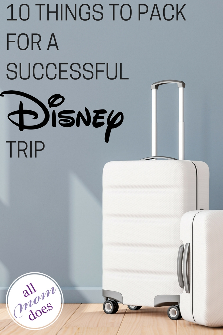 Essential packing list for a trip to Disney. #disneyland