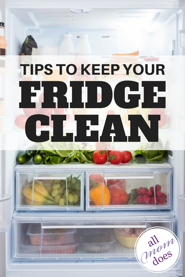 Tips to keep your refrigerator clean. #springcleaning #housekeeping