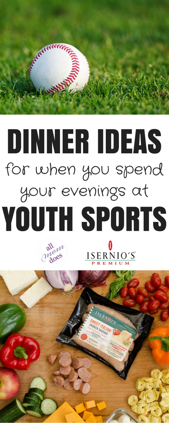 Dinner ideas for youth sports. #picnic #baseball #littleleague
