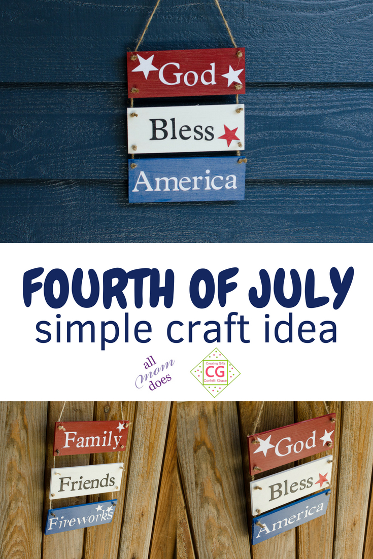 Fourth of July Craft Idea #craft #fourthofjuly #crafting