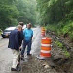 Assemblyman Gary Finch & Sen. James Seward view flood damage in SE Cayuga County
