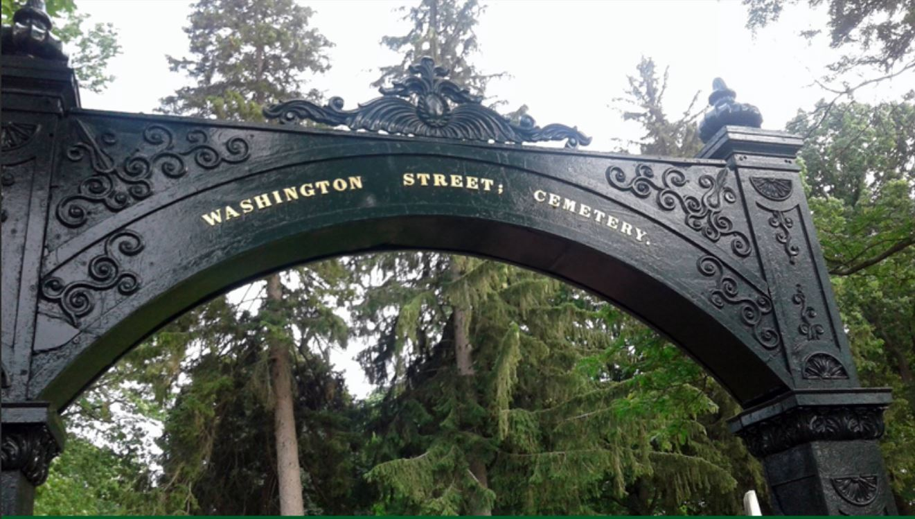 Washington St. Cemetery Arch Dedication Set