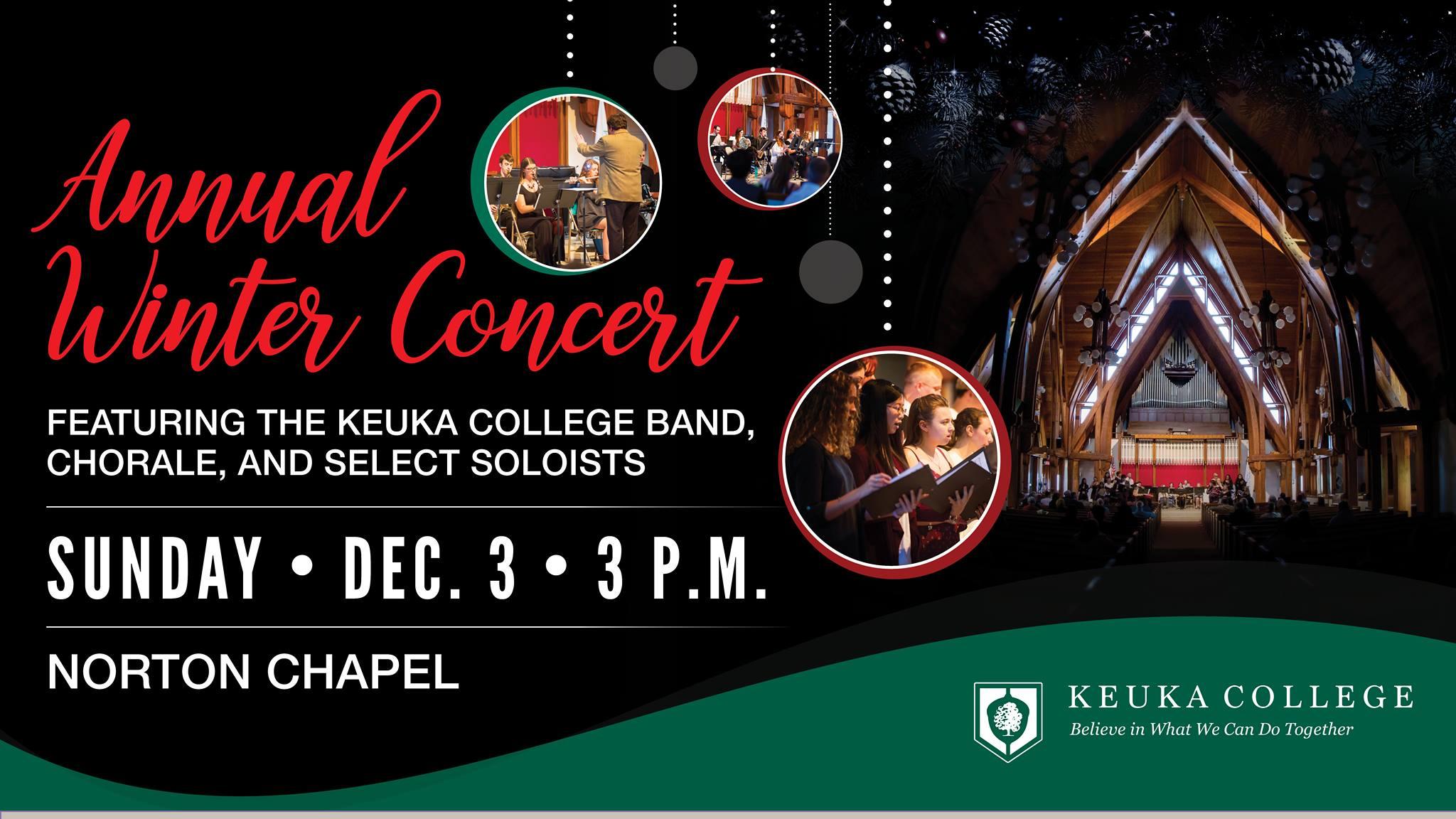 Keuka College Winter Concert Sunday