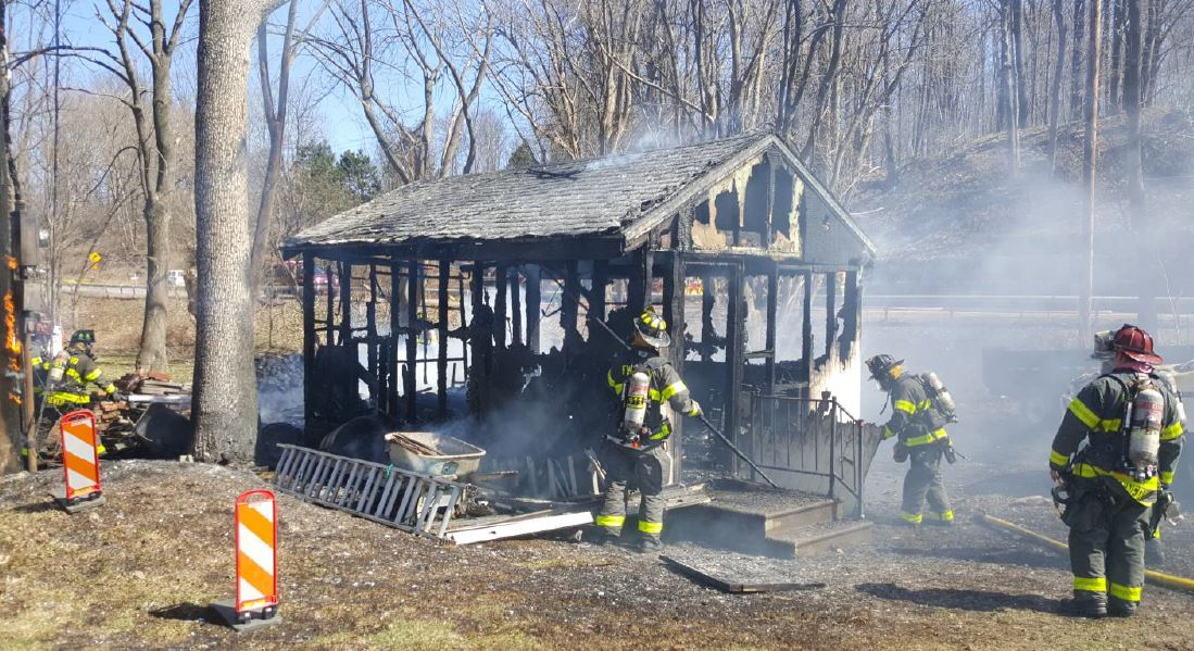 Ontario County Shed Fire