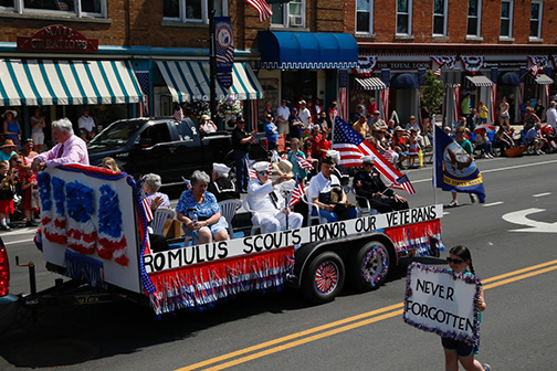 Freedom Parade Honors Sampson's 75th