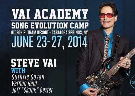 Steve Vai launching Vai Academy Song Evolution Camp