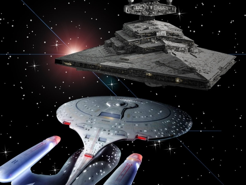Who wins the all out battle; Star Trek or Star Wars?