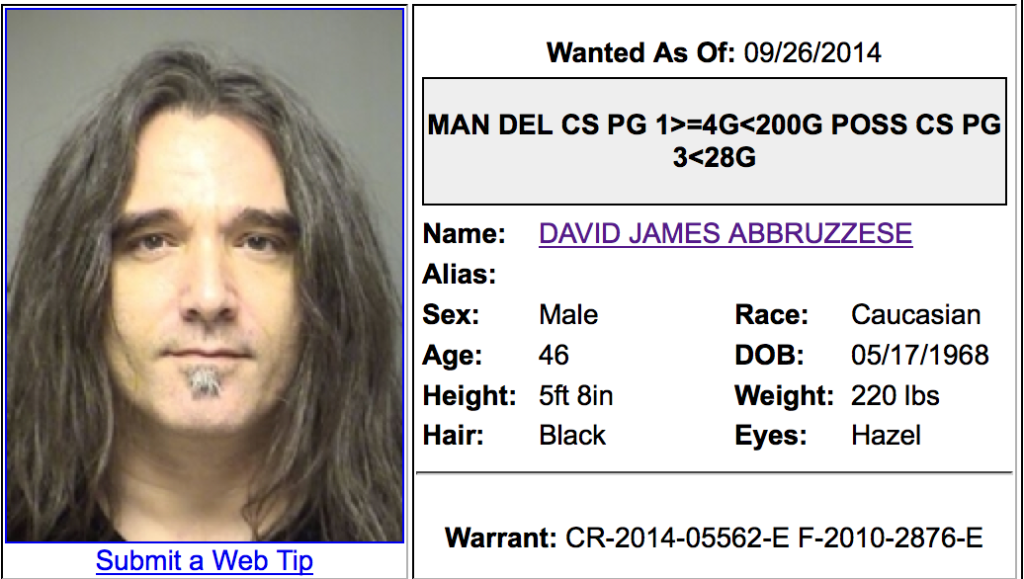 Former Pearl Jam Drummer Wanted By Police