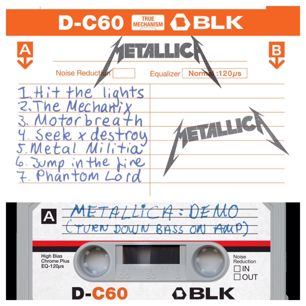 Trip back in time with Metallica demo....on cassette.