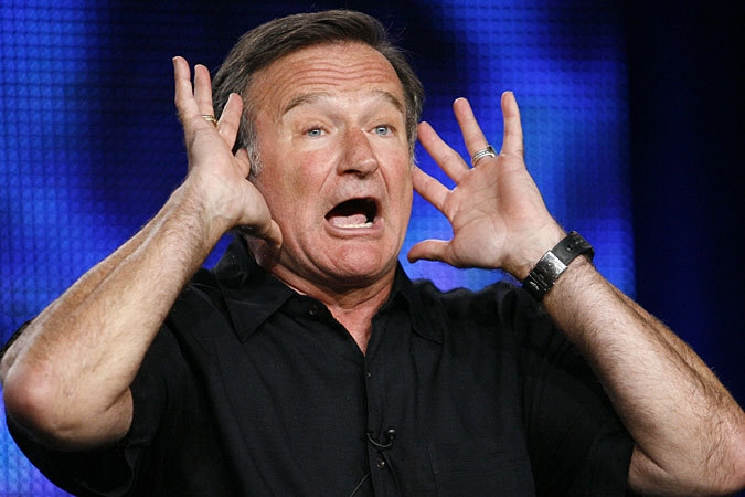 Robin Williams inducts Genesis into RnRHF and then some