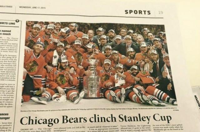Bears Win Stanley Cup