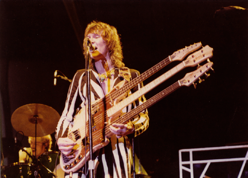 Yes co-founder/bassist Chris Squire with Robin LaRose