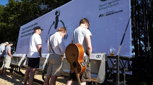 Danish festival-goers donate urine to help make beer
