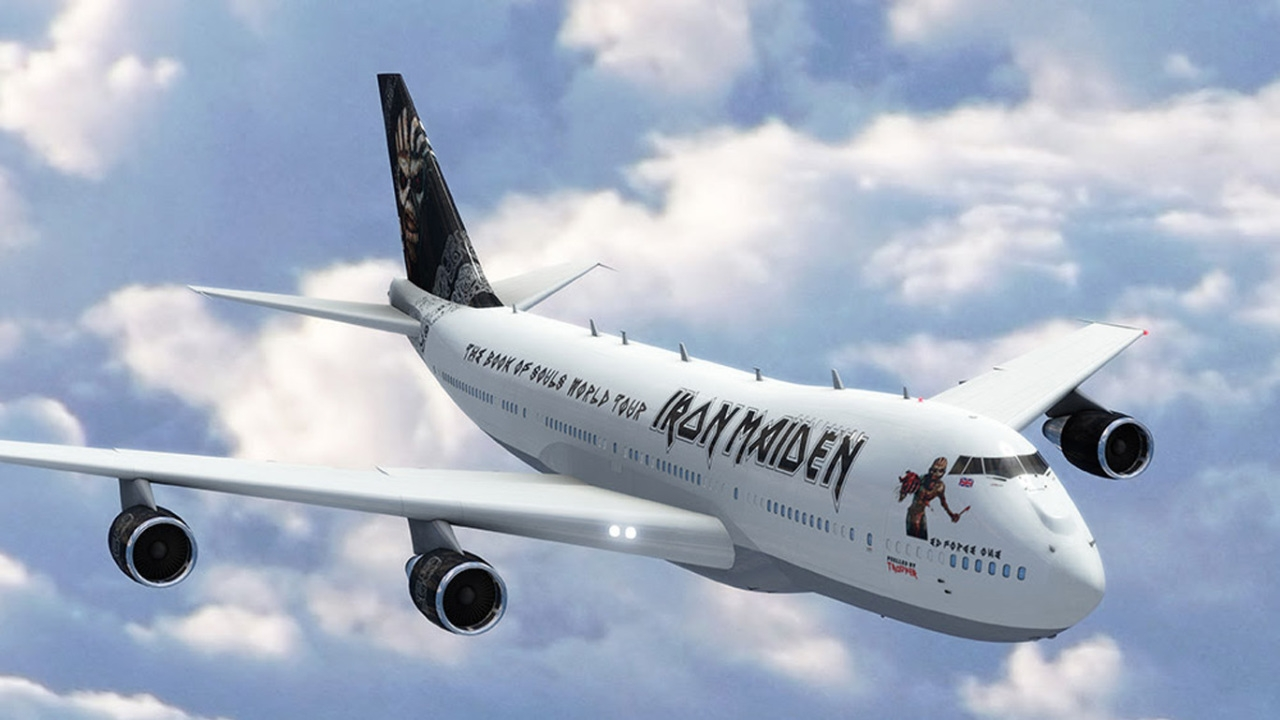 """Maiden to Tour in new """"Ed Force One"""""""