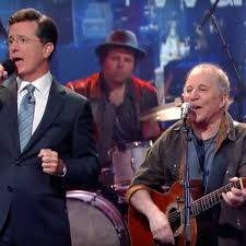 Colbert + Paul Simon = gold *VIDEO*