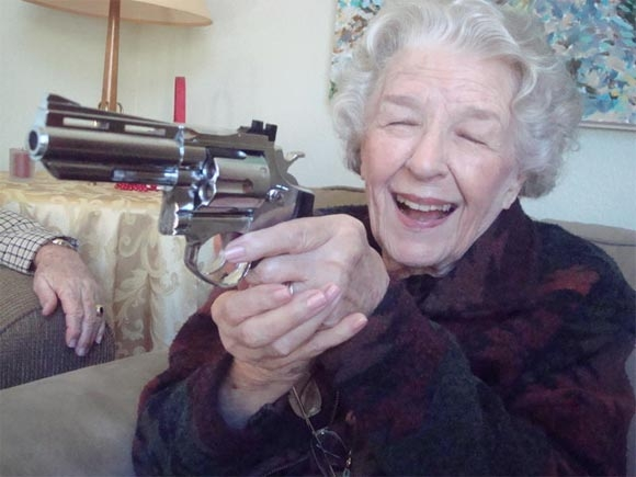 Heavily Armed Robbery Gang Sent Packing by 65-yr Old Woman.....