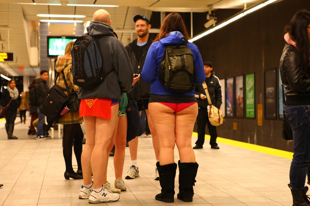 No pants Skytrain ride today! (VIDEO)