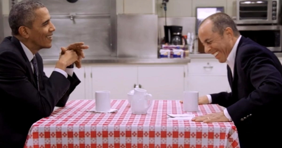 Seinfeld has coffee with the president...and it's cute. (VIDEO)