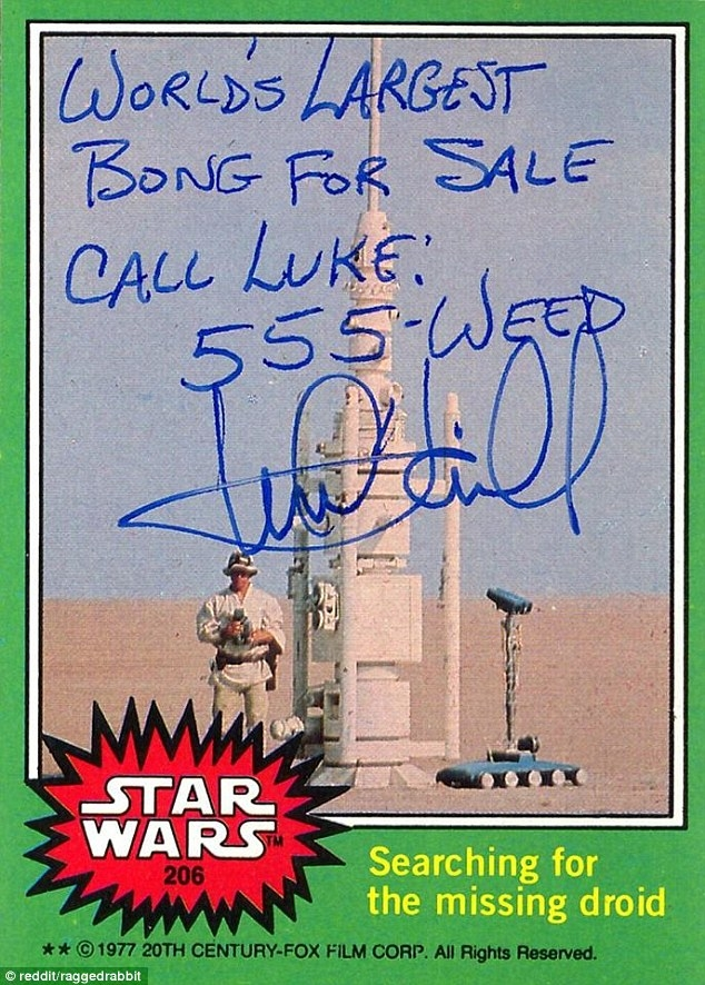 Mark Hamill gives the best autographs.